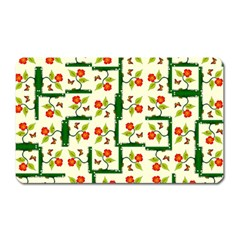 Plants And Flowers Magnet (rectangular)