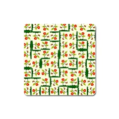 Plants And Flowers Square Magnet