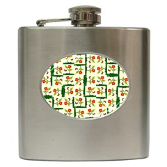 Plants And Flowers Hip Flask (6 Oz)