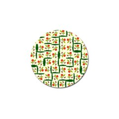 Plants And Flowers Golf Ball Marker (4 Pack)