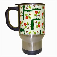 Plants And Flowers Travel Mugs (white)