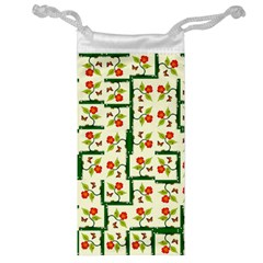 Plants And Flowers Jewelry Bag