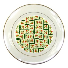 Plants And Flowers Porcelain Plates