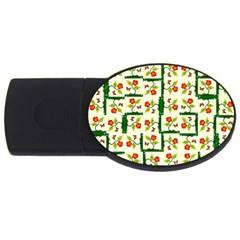 Plants And Flowers Usb Flash Drive Oval (4 Gb)