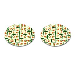 Plants And Flowers Cufflinks (oval)