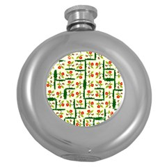 Plants And Flowers Round Hip Flask (5 Oz)