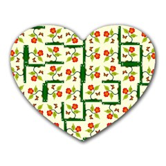 Plants And Flowers Heart Mousepads