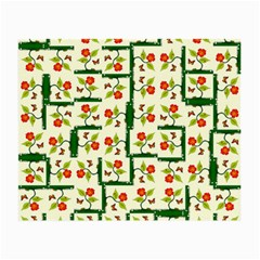 Plants And Flowers Small Glasses Cloth (2 Side)