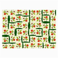 Plants And Flowers Large Glasses Cloth (2 Side)