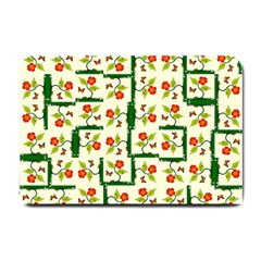 Plants And Flowers Small Doormat