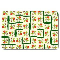 Plants And Flowers Large Doormat