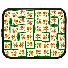 Plants And Flowers Netbook Case (large)