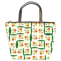 Plants And Flowers Bucket Bags