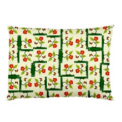 Plants And Flowers Pillow Case