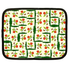 Plants And Flowers Netbook Case (xl)