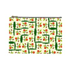 Plants And Flowers Cosmetic Bag (large)