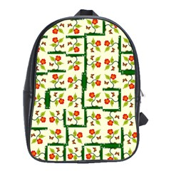 Plants And Flowers School Bag (large)