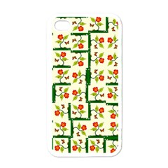 Plants And Flowers Apple Iphone 4 Case (white)