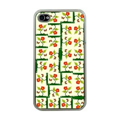 Plants And Flowers Apple Iphone 4 Case (clear)