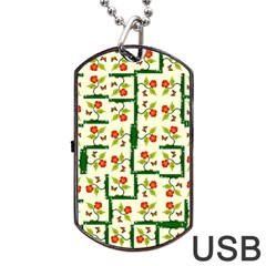 Plants And Flowers Dog Tag Usb Flash (two Sides)