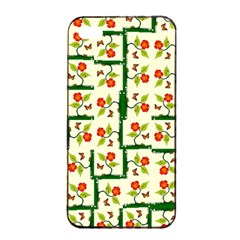 Plants And Flowers Apple Iphone 4/4s Seamless Case (black)