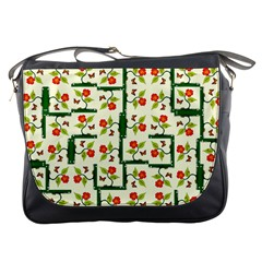Plants And Flowers Messenger Bags