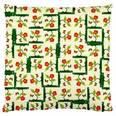 Plants And Flowers Large Cushion Case (one Side)