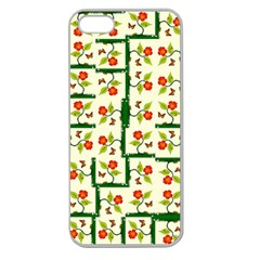 Plants And Flowers Apple Seamless Iphone 5 Case (clear)