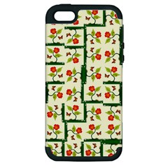 Plants And Flowers Apple Iphone 5 Hardshell Case (pc+silicone)