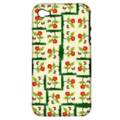 Plants And Flowers Apple Iphone 4/4s Hardshell Case (pc+silicone)