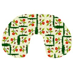 Plants And Flowers Travel Neck Pillows