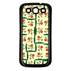 Plants And Flowers Samsung Galaxy S3 Back Case (black)