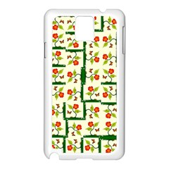 Plants And Flowers Samsung Galaxy Note 3 N9005 Case (white)