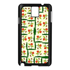 Plants And Flowers Samsung Galaxy Note 3 N9005 Case (black)
