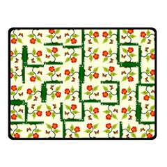 Plants And Flowers Double Sided Fleece Blanket (small)