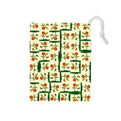 Plants And Flowers Drawstring Pouches (medium)