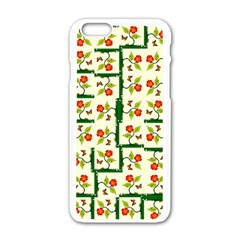 Plants And Flowers Apple Iphone 6/6s White Enamel Case