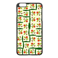 Plants And Flowers Apple Iphone 6 Plus/6s Plus Black Enamel Case