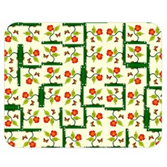 Plants And Flowers Double Sided Flano Blanket (medium)