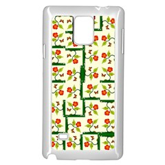 Plants And Flowers Samsung Galaxy Note 4 Case (white)