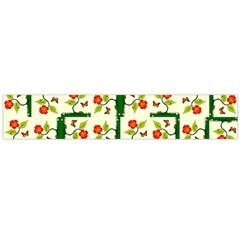 Plants And Flowers Flano Scarf (large)