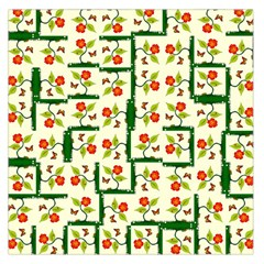 Plants And Flowers Large Satin Scarf (square)