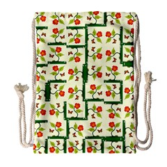 Plants And Flowers Drawstring Bag (large)