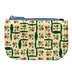Plants And Flowers Large Coin Purse