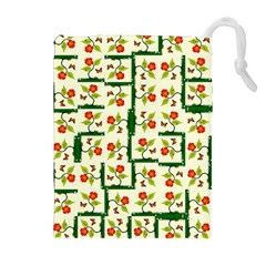 Plants And Flowers Drawstring Pouches (extra Large)