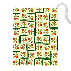 Plants And Flowers Drawstring Pouches (xxl)