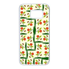 Plants And Flowers Samsung Galaxy S7 White Seamless Case