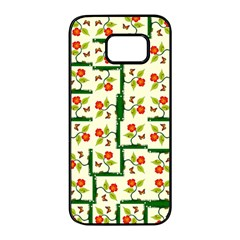 Plants And Flowers Samsung Galaxy S7 Edge Black Seamless Case