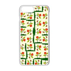 Plants And Flowers Apple Iphone 7 Plus Seamless Case (white)