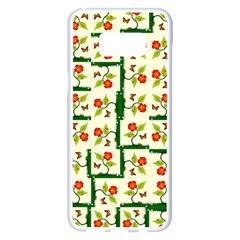 Plants And Flowers Samsung Galaxy S8 Plus White Seamless Case